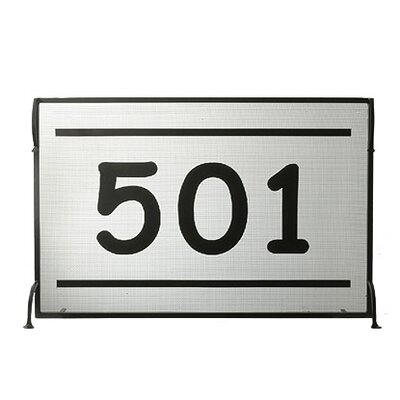 Personalized 501 Single Panel Fireplace Screen