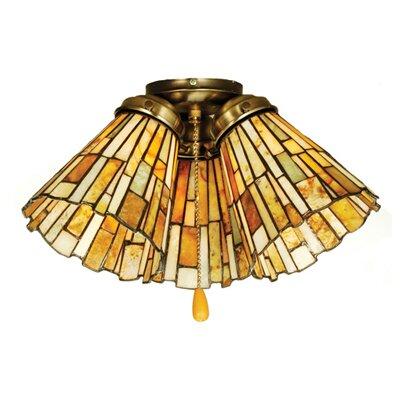 "Meyda Tiffany 5"" Jadestone Glass Bell Ceiling Fan Fitter Shade"