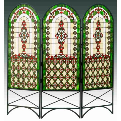 Quatrefoil Classical 3 Panel Room Divider