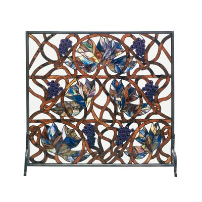 Grapevine Single Panel Fireplace Screen