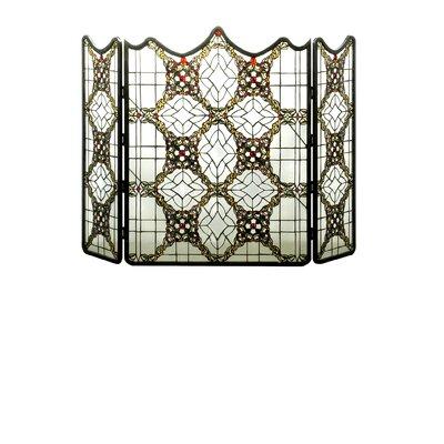 Victorian Beveled Folding 3 Panel Fireplace Screen