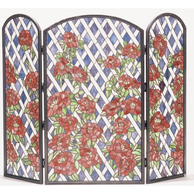 Rose Trellis 3 Panel Fireplace Screen