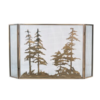 Tall Folding 3 Panel Fireplace Screen