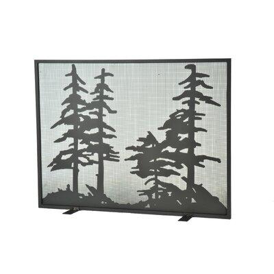 Tall Single Panel Fireplace Screen