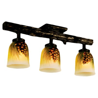 Meyda Tiffany Rustic Northwoods 3 Light Full Track Lighting Kit