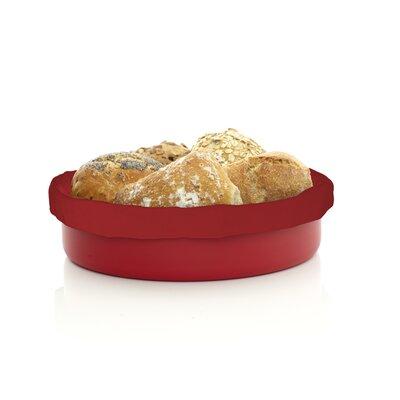 Erik Bagger Bread Basket with Black Bread Bag in Red