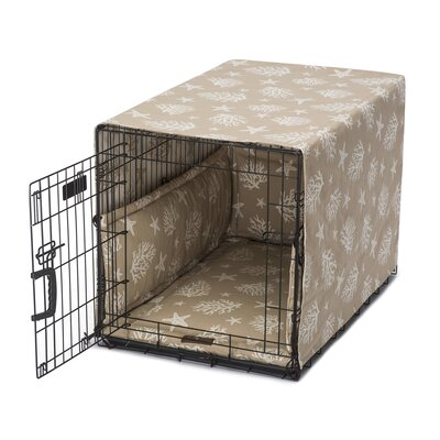 "Cove Permium Cotton Crate Cover Size: 30"" W x 19"" D x 22"" H, Color: Sand"