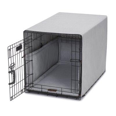 "Windsor Permium Cotton Crate Cover Size: 18"" H x 19"" W x 24"" D, Color: Dove"