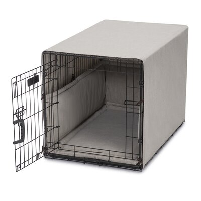 "Windsor Permium Cotton Crate Cover Size: 18"" H x 19"" W x 24"" D, Color: Linen"
