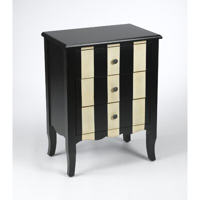 3 Drawer Striped Chest