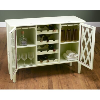 Bar Cabinet with Wine Storage Finish: Antique White