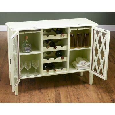 Bar Cabinet with Wine Storage Finish: Antique White