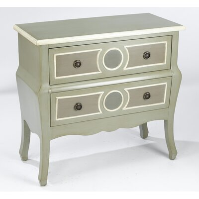 2 Drawer Chest Color: Sage / Gray / Cream