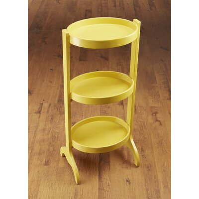 Multi-Tiered Plant Stand Color: Yellow