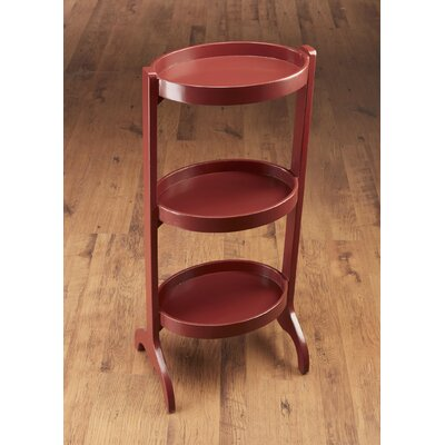 Multi-Tiered Plant Stand Color: Red