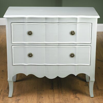 2 Drawer Chest Color: Gray / White