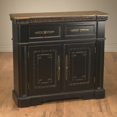 2 Drawer 2 Door Accent Cabinet Color: Black
