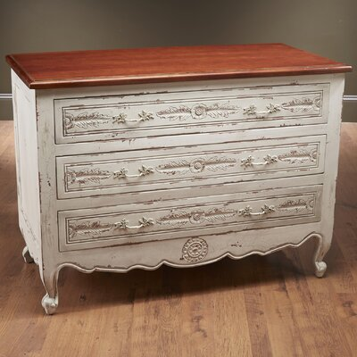 3 Drawer Chest Color: White