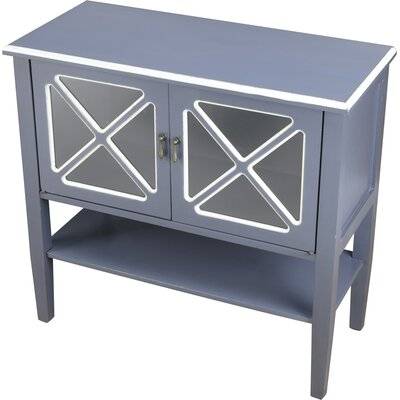 2 Door Accent Cabinet Color: Blue/White