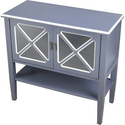2 Door Accent Cabinet Color: Blue/White