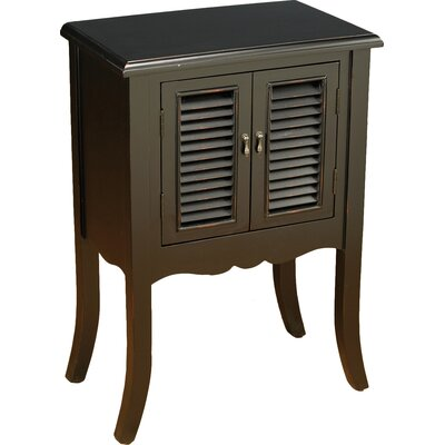 Shutter 2 Door Accent Cabinet Color: Black