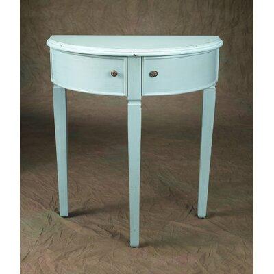 Demilune Console Table Color: Light Blue