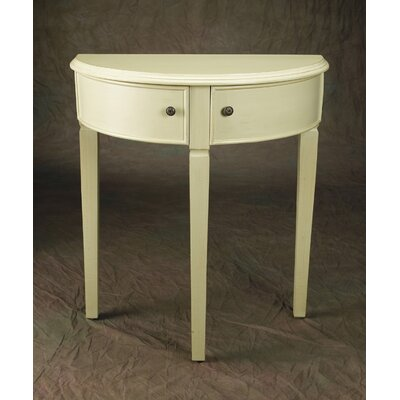 Demilune Console Table Color: Tan
