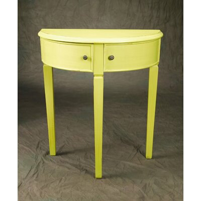 Demilune Console Table Color: Yellow