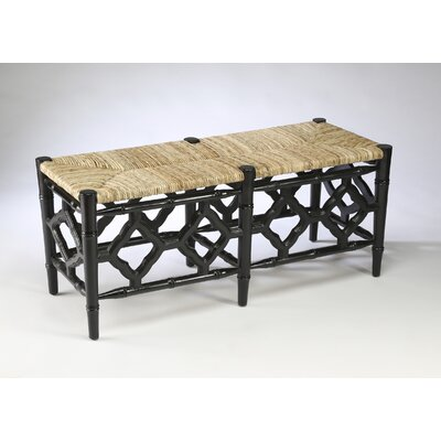 Marites Wood Bench Color: Black