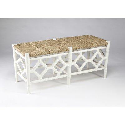 Marites Wood Bench Color: White