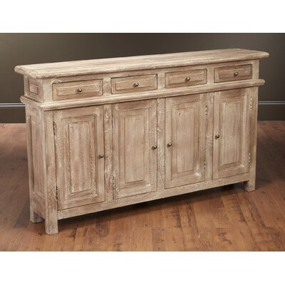 Washington 4 Door and 4 Drawer Console Accent Cabinet Color: Weathered Sand