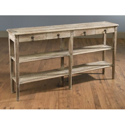 Whittier 4 Drawer Console Table Color: Weathered Sand