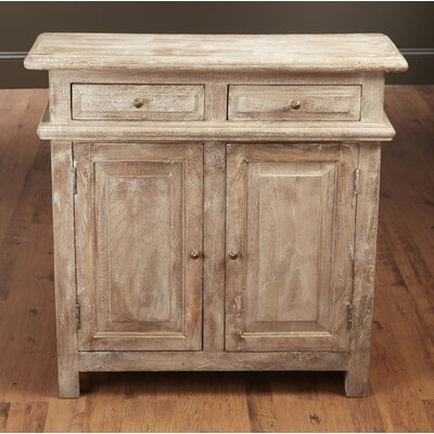 Washington 2 Drawer and 2 Door Console Accent Cabinet Color: Weathered Sand