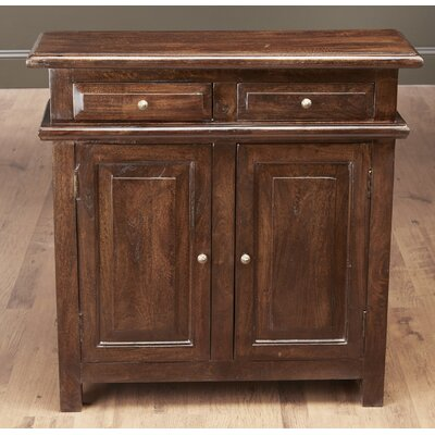 Washington 2 Drawer and 2 Door Console Accent Cabinet Color: Pecan