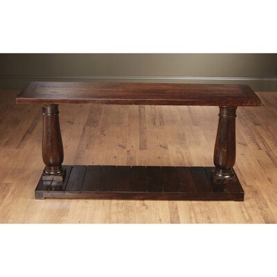 Column Console Table Color: Walnut