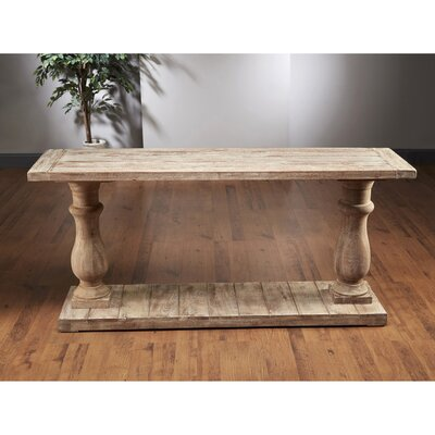 Column Console Table Color: Weathered Gray