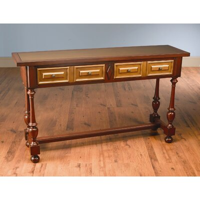 Console Table Color: Distressed Antique Red and Gold