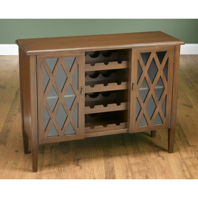 Bar Cabinet with Wine Storage Finish: Medium Cherry