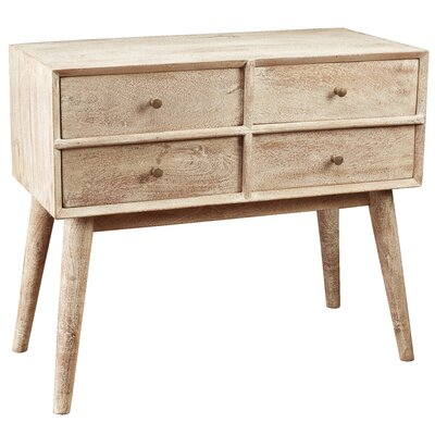 Mid Century Style 4 Accent Chest Color: Weathered Gray