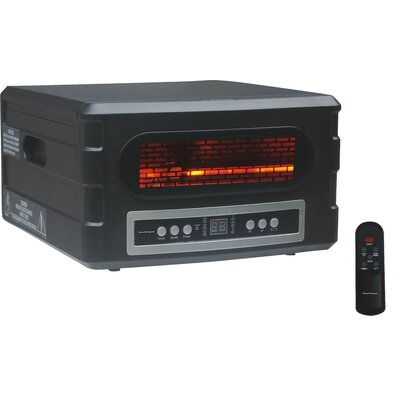 1,500 Watt Electric Infrared Compact Heater with Remote Control
