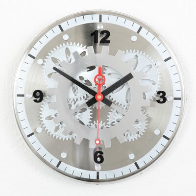 "Maples Clock 12"" Moving Gear Wall Clock"