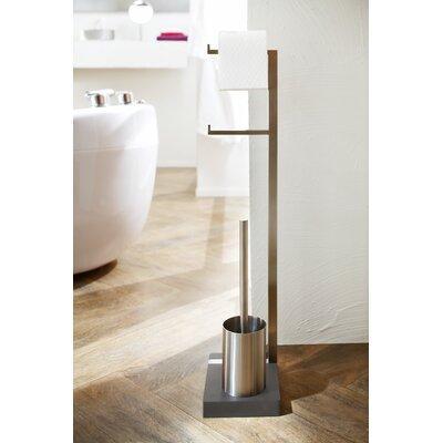 Blomus Menoto Free Standing Toilet Roll and Brush Holder
