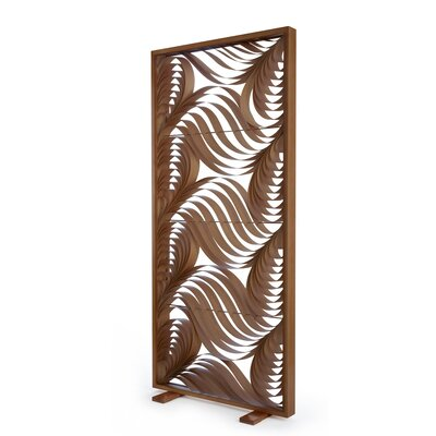 Paisley 1 Panel Room Divider Base/Border Finish: Cherry, Interior Finish: Red