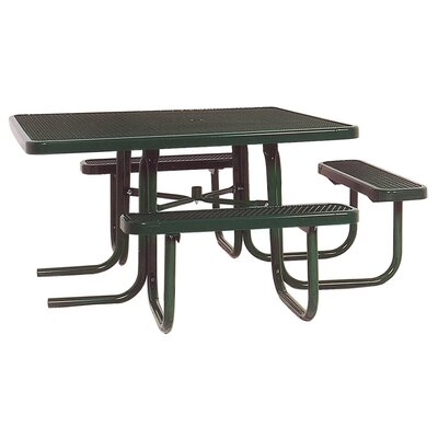 Ultra Play 3-Seat ADA Square Picnic Table with Perforated Pattern