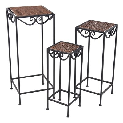 Attles 3 Piece Plant Stand Set
