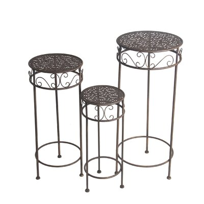 Charity 3 Piece Iron Nesting Plant Stand Set