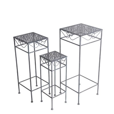 Charity Square Scroll Iron 3 Piece Nesting Plant Stand Set