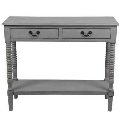 Brokaw Hollow 2 Drawer Console Table Color: Gray