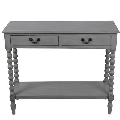 Brokaw 2 Drawer Console Table Color: Gray