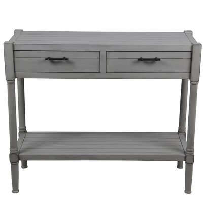 Diawara 2 Drawer Console Table Color: Gray